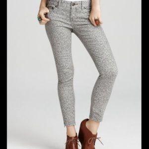 Free people skinny printed jeans